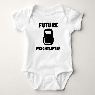 Future Weightlifter Kettlebell Baby Bodysuit