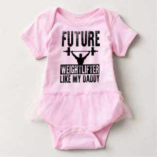 Future Weightlifter Like My Daddy Baby Bodysuit