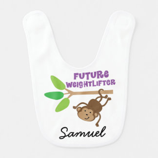Future Weightlifter Personalized Baby Bib