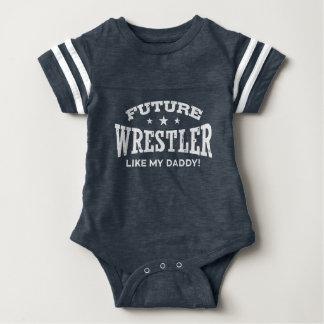 Future Wrestler Like My Daddy Baby Bodysuit