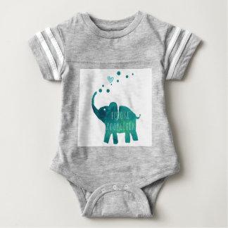 Future Zookeeper Elephant Baby Football Jersey Baby Bodysuit