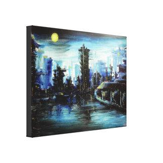 Futuretown Painting Canvas Print