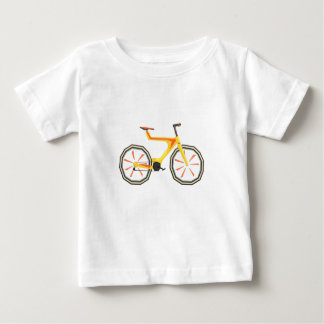 Futurictic Design Yellow Bicycle. Cool Colorful Baby T-Shirt