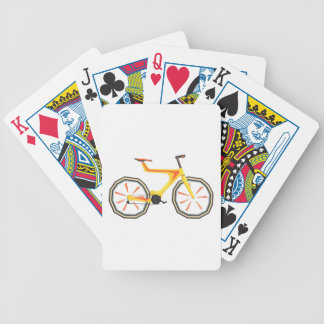 Futurictic Design Yellow Bicycle. Cool Colorful Bicycle Playing Cards