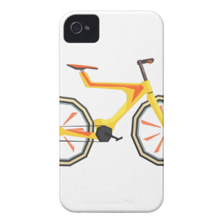 Futurictic Design Yellow Bicycle. Cool Colorful Case-Mate iPhone 4 Case