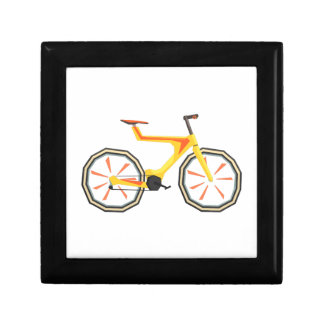 Futurictic Design Yellow Bicycle. Cool Colorful Gift Box