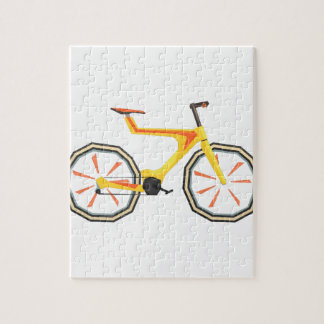 Futurictic Design Yellow Bicycle. Cool Colorful Jigsaw Puzzle