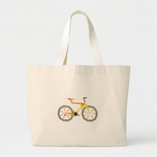 Futurictic Design Yellow Bicycle. Cool Colorful Large Tote Bag