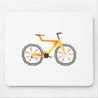Futurictic Design Yellow Bicycle. Cool Colorful Mouse Pad