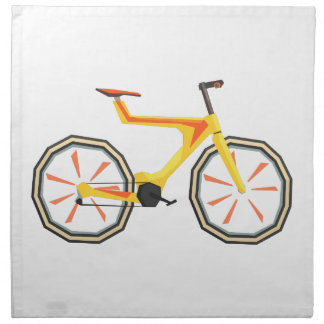 Futurictic Design Yellow Bicycle. Cool Colorful Napkin