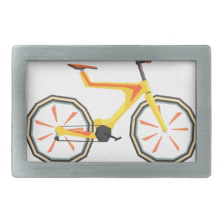Futurictic Design Yellow Bicycle. Cool Colorful Rectangular Belt Buckle