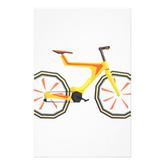 Futurictic Design Yellow Bicycle. Cool Colorful Stationery