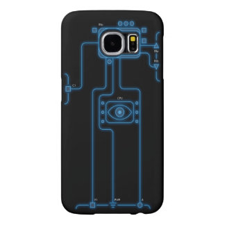 Futurist Blue Player Highlight Samsung Galaxy S6 Cases