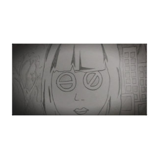 Futurist girl canvas print