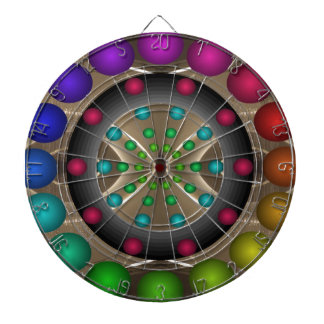 Futuristic 3D Rainbow Challenge Darts Dartboard