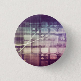 Futuristic Abstract Concept on Technology 1 Inch Round Button