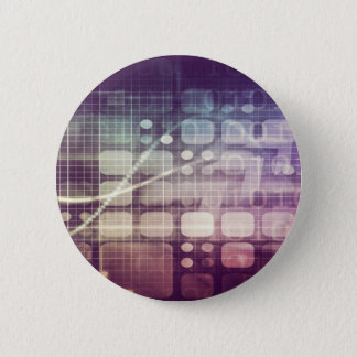 Futuristic Abstract Concept on Technology 2 Inch Round Button