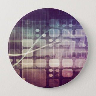Futuristic Abstract Concept on Technology 4 Inch Round Button