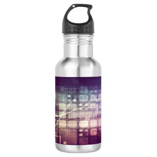Futuristic Abstract Concept on Technology 532 Ml Water Bottle