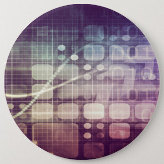 Futuristic Abstract Concept on Technology 6 Inch Round Button