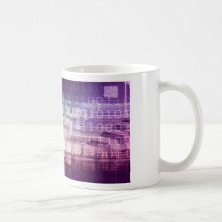 Futuristic Abstract Concept on Technology Coffee Mug