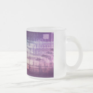 Futuristic Abstract Concept on Technology Frosted Glass Coffee Mug