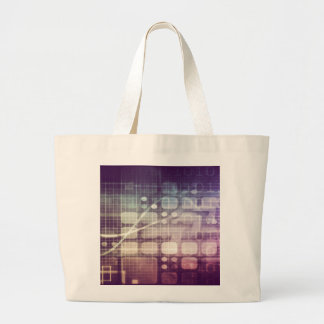Futuristic Abstract Concept on Technology Large Tote Bag