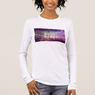 Futuristic Abstract Concept on Technology Long Sleeve T-Shirt