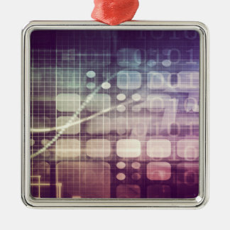Futuristic Abstract Concept on Technology Metal Ornament