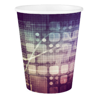 Futuristic Abstract Concept on Technology Paper Cup