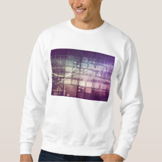Futuristic Abstract Concept on Technology Sweatshirt