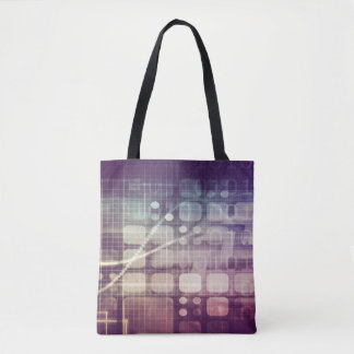 Futuristic Abstract Concept on Technology Tote Bag