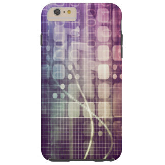 Futuristic Abstract Concept on Technology Tough iPhone 6 Plus Case