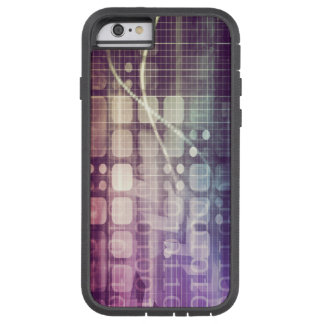 Futuristic Abstract Concept on Technology Tough Xtreme iPhone 6 Case