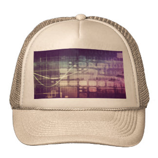 Futuristic Abstract Concept on Technology Trucker Hat