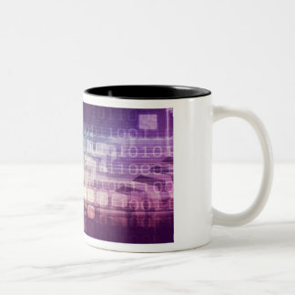 Futuristic Abstract Concept on Technology Two-Tone Coffee Mug