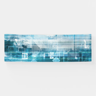 Futuristic Background with Technology Abstract Banner