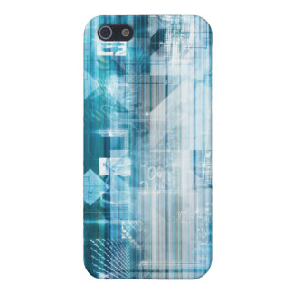 Futuristic Background with Technology Abstract Case For iPhone 5/5S