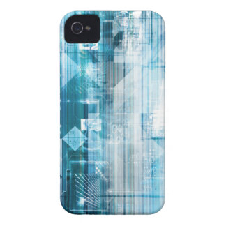Futuristic Background with Technology Abstract Case-Mate iPhone 4 Cases