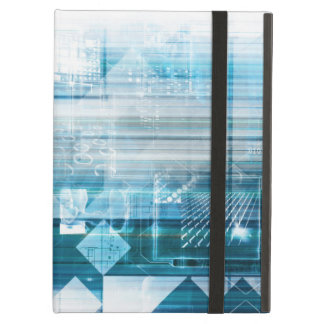 Futuristic Background with Technology Abstract iPad Air Cases