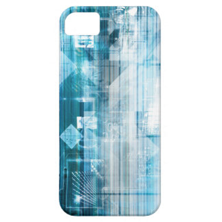 Futuristic Background with Technology Abstract iPhone 5 Case