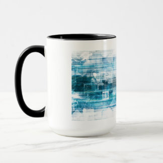 Futuristic Background with Technology Abstract Mug
