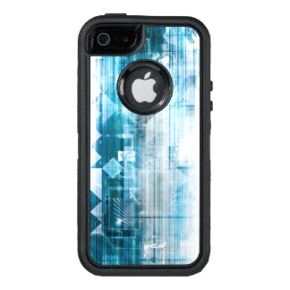 Futuristic Background with Technology Abstract OtterBox iPhone 5/5s/SE Case