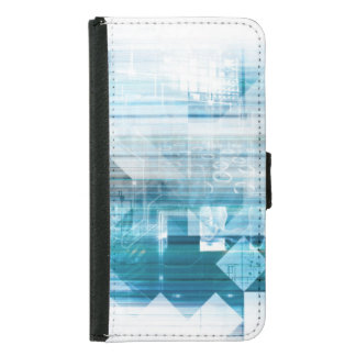 Futuristic Background with Technology Abstract Samsung Galaxy S5 Wallet Case