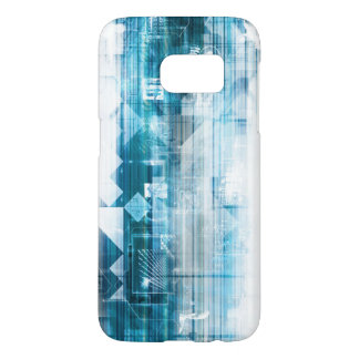 Futuristic Background with Technology Abstract Samsung Galaxy S7 Case
