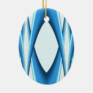Futuristic Blue Arch Ceramic Ornament