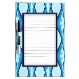Futuristic Blue Arch Dry Erase Board