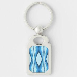 Futuristic Blue Arch Keychain