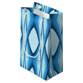Futuristic Blue Arch Small Gift Bag