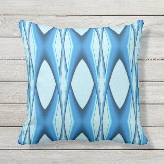 Futuristic Blue Arch Throw Pillow